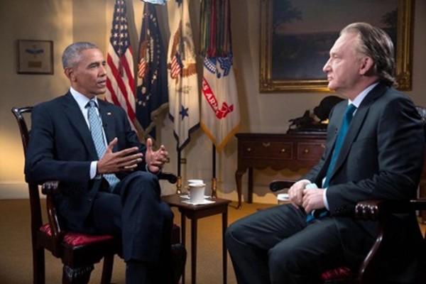 Tổng thống Mỹ Obama trả lời phỏng vấn với nghệ sĩ hài Bill Maher. Ảnh: WashingtonPost