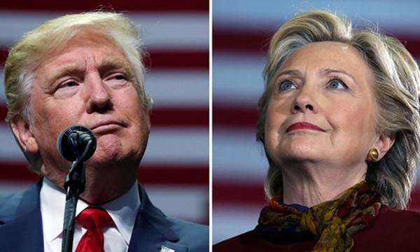 Donald Trump (trái) và Hillary Clinton. Ảnh: Reuters