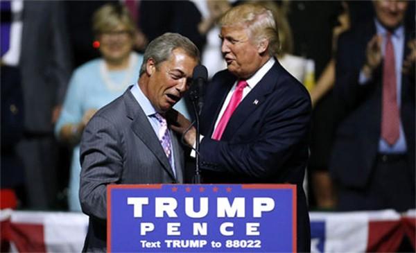 Donald Trump trong cuộc vận động tranh cử những ngày cuối. Ảnh: Slate.