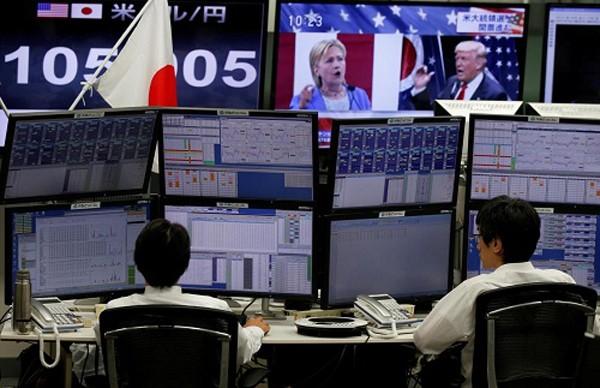 Chứng khoán Nhật Bản sụt giảm vì tin Trump đắc cử. Ảnh: Independent