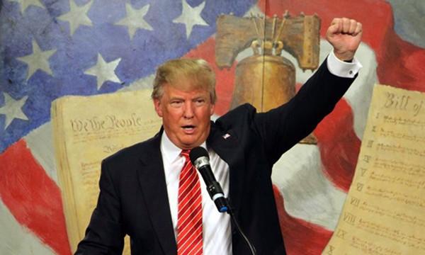 Donald Trump thắng cử, trở thành tổng thống thứ 45 của nước Mỹ. Ảnh:Reuters