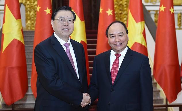 Quan hệ Việt Nam - Trung Quốc đã và đang duy trì xu thế phát triển tích cực. Ảnh: Quang Hiếu