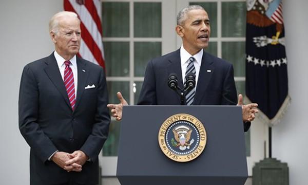 Ông Obama phát biểu tại Washington. Ảnh: AP