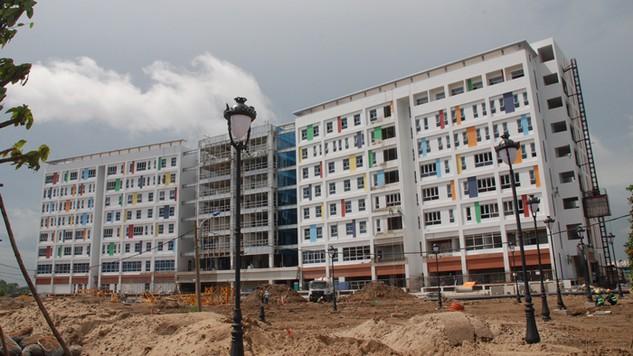 Ban Quản lý đầu tư xây dựng các công trình thuộc Sở Y tế TP.HCM đã phải hủy thầu một số gói thầu thuộc Dự án Xây dựng mới Bệnh viện Nhi đồng TP.HCM. Ảnh: Phương Mai