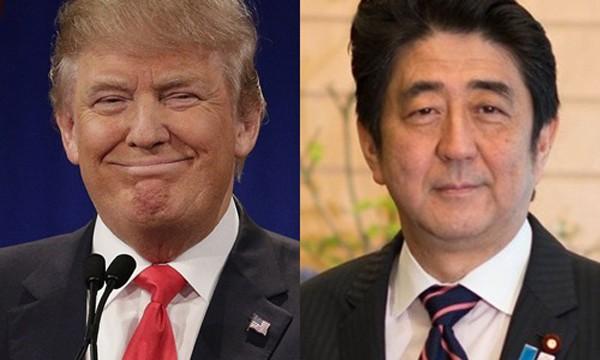 Tổng thống Mỹ đắc cử Donald Trump (trái) và Thủ tướng Nhật Shinzo Abe. Ảnh: Politico/Wikimedia.