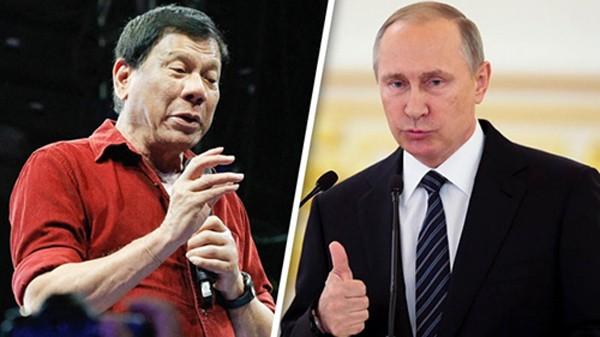 Tổng thống PhilippinesRodrigo Duterte và Tổng thống Nga Vladimir Putin. Ảnh:ABS-CBN