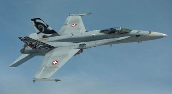 Chiến đấu cơ F/A-18C của ThụySĩ. Ảnh:Wikipedia
