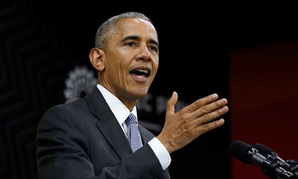 Tổng thống Mỹ Barack Obama phát biểu tại Diễn đàn Hợp tác Kinh tế châu Á - Thái Bình Dương ở thủ đô Lima, Peru, ngày 20/11. Ảnh:Reuters.