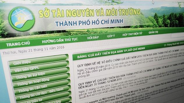 Sở Tài nguyên và Môi trường TP.HCM đã tổ chức đấu thầu công khai qua mạng Internet để lựa chọn đơn vị tư vấn.