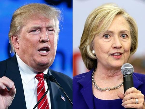 Donald Trump (trái) và Hillary Clinton. Ảnh: AP.