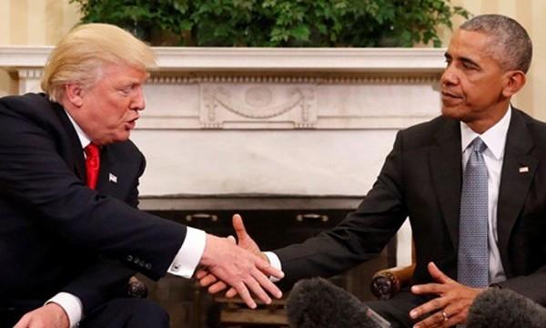 Tổng thống Mỹ đắc cử Donald Trump hôm 10/11 gặp mặt Tổng thống Barack Obama tại Nhà Trắng. Ảnh:Fox News