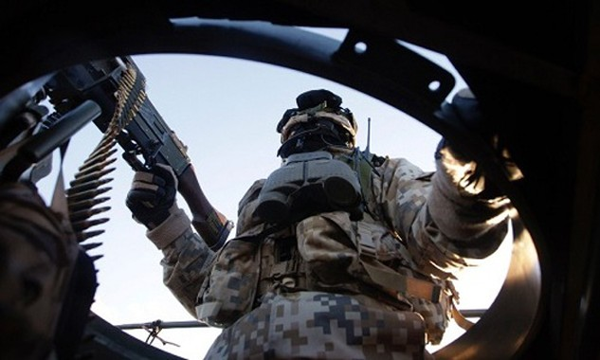 Binh sĩ NATO trong một cuộc tập trận. Ảnh:Reuters