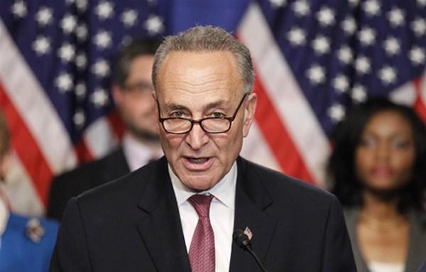 Thượng nghị sĩ Chuck Schumer được bầu làm lãnh đạo phe thiểu số Dân chủ tại thượng viện hôm 16/11. Ảnh: Reuters