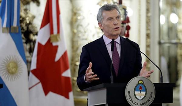 Tổng thống ArgentinaMauricio Macri. Ảnh:AP
