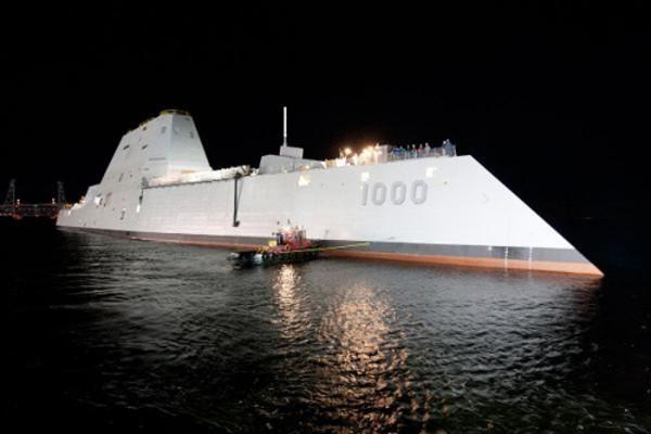 Tàu USS Zumwalt tối tân của hải quân Mỹ. Ảnh:Military