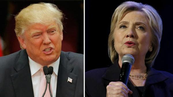 Donald Trump (trái) và Hillary Clinton. Ảnh:CBS