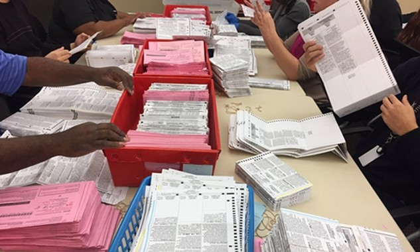 California vẫn đang kiểm phiếu bầu tổng thống Mỹ. Ảnh:npr