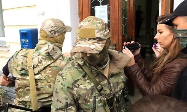 Lực lượng an ninhNga tại Sevastopol. Ảnh:Tass.