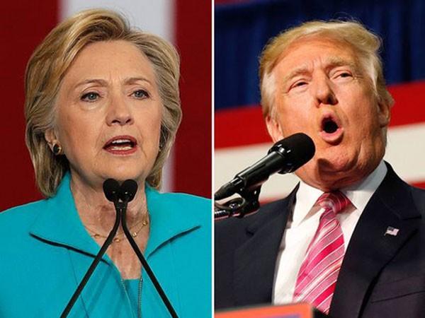 Hillary Clinton vàDonald Trump. Ảnh:AP
