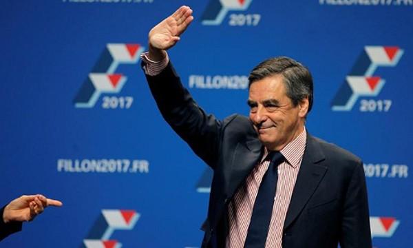 Cựu thủ tướng, ứng viên tổng thống đảng Cộng hòa Pháp Francois Fillon. Ảnh:Reuters.