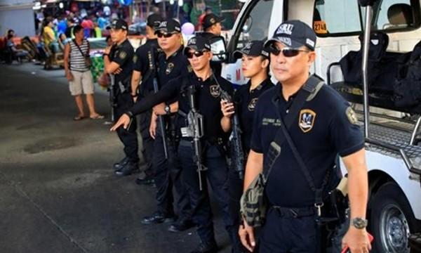 Thành viên Đơn vị Phản ứng Đặc biệt, cảnh sát quốc gia Philippines. Ảnh:Reuters.