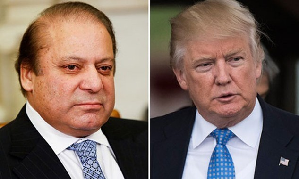 Thủ tướng Pakistan Nawaz Sharif (trái) và Tổng thống đắc cử Mỹ Donald Trump. Ảnh: Washington Post.