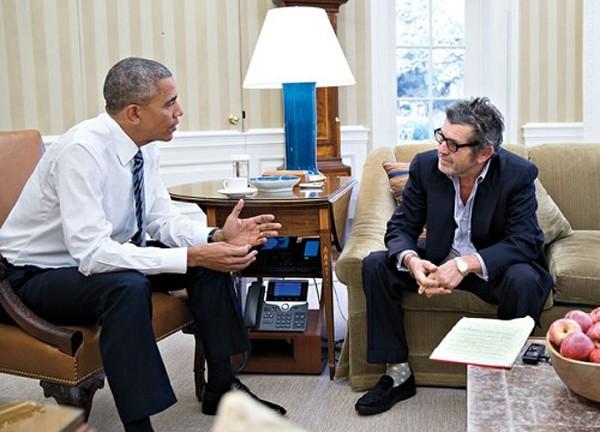 Tổng thống Obama trả lời phỏng vấn phóng viên Rolling Stone. Ảnh: Nhà Trắng