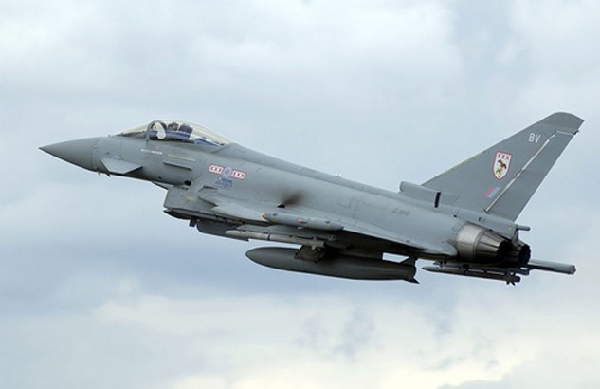 Chiến đấu cơ Typhoon của Không quân Anh. Ảnh:Wikipedia