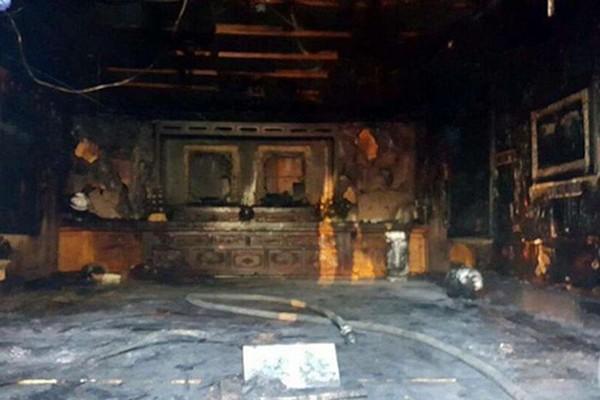 Nhà tưởng niệm bị phá hoại nghiêm trọng sau vụ hỏa hoạn. Ảnh:Yonhap