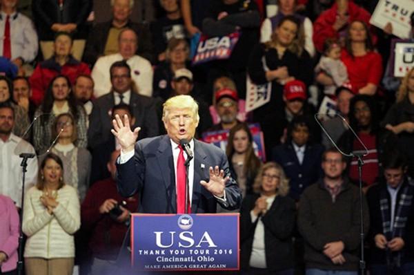Ông Trump phát biểu tại Cincinnati, bang Ohio. Ảnh: Reuters