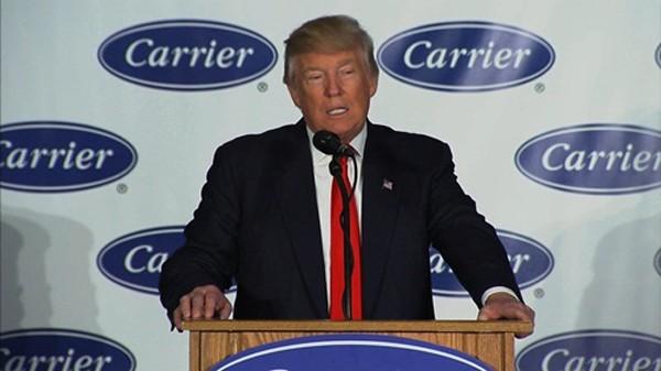 """Donald Trump cho rằng Carrier đã làm một việc """"đúng đắn"""". Ảnh:NBC"""