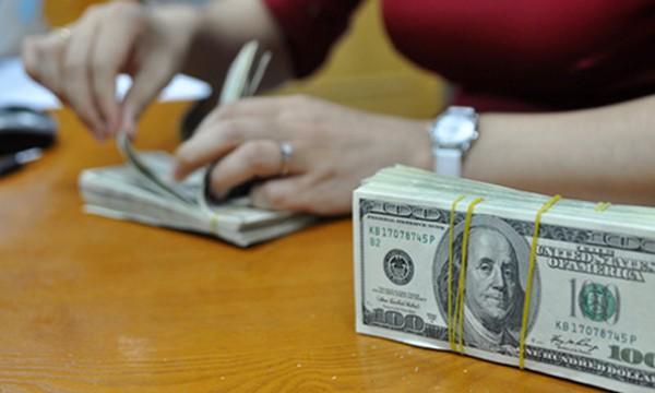 Vay mượn bằng đôla trên liên ngân hàng tăng vọt. Ảnh: A.Q.