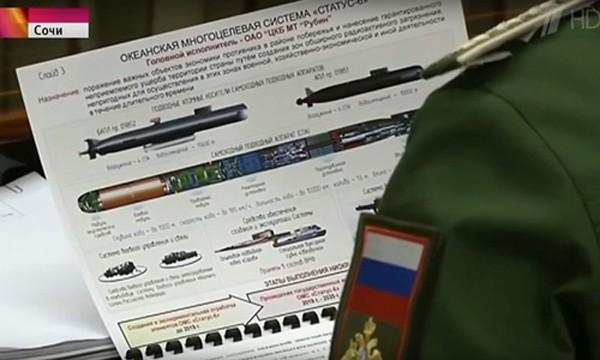 Tài liệu về dự án Status 6 mà truyền hình Nga để rò rỉ. Ảnh: RT
