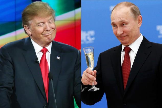 Tổng thống Nga Vladimir Putin (phải) và Tổng thống đắc cử Mỹ Donald Trump. (Ảnh: Getty)