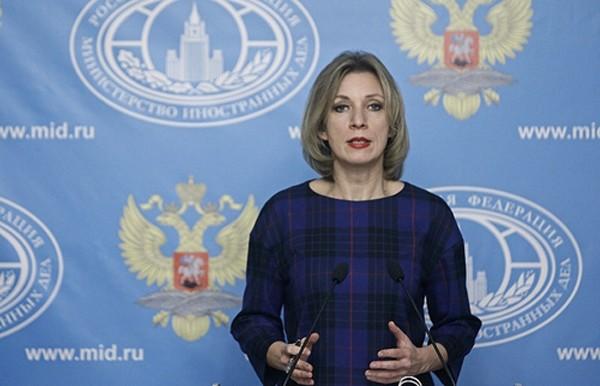 Người phát ngôn Bộ Ngoại giao Nga Maria Zakharova. Ảnh:Tass