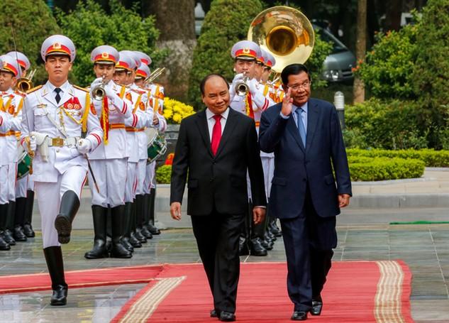 Chuyến thăm chính thức Việt Nam của Thủ tướng Vương quốc Campuchia Hun Sen đã thành công tốt đẹp. Ảnh: Việt Dũng