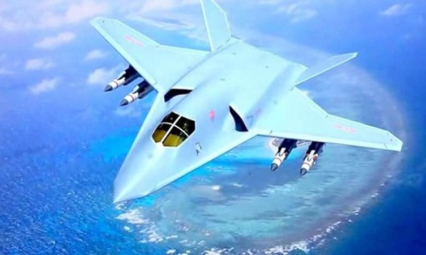 Hình ảnh được cho là thiết kế của mẫu máy bay ném bom chiến lược thế hệ mới H-20 của Trung Quốc. Ảnh:Sputnik