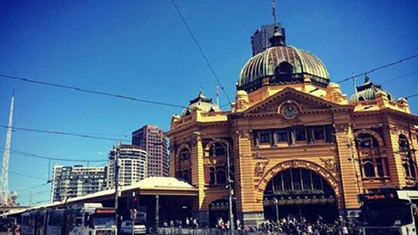 Mối đe dọa tập trung vào ga tàu Flinders (ảnh), Quảng trường Federation, Nhà thờ St Paul. Ảnh:Australian