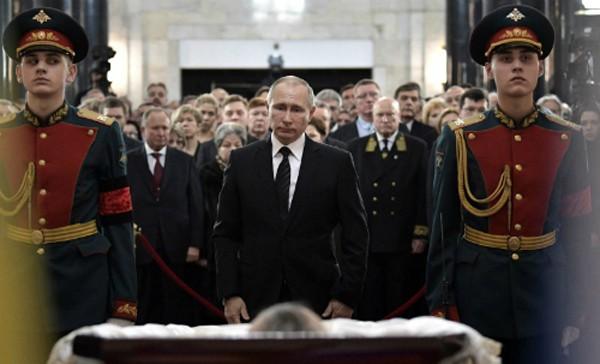 Tổng thống Putin dự đám tang của đại sứ Nga tại Thổ Nhĩ KỳAndrey Karlov. Ảnh:Sputnik