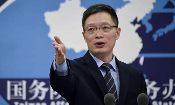 An Phong Sơn, người phát ngôn Văn phòng Các vấn đề Đài Loan của Trung Quốc. Ảnh:AFP
