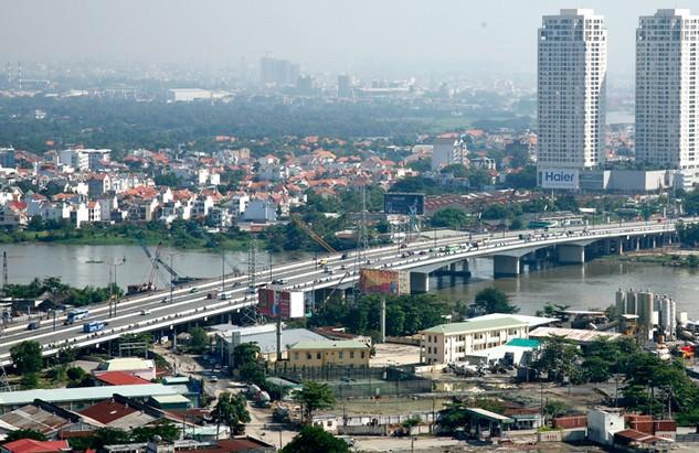Cầu Sài Gòn 2 là một trong những dự án gắn với tên tuổi Công ty CP  Xây dựng Hạ tầng CII. Ảnh: Đinh Tuấn