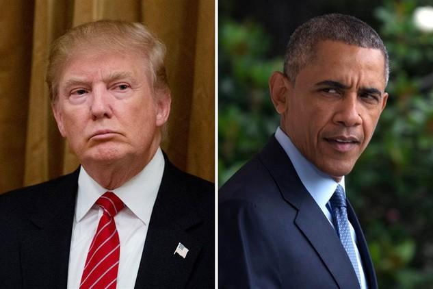 Tổng thống Mỹ Barack Obama (phải) và Tổng thống đắc cử Donald Trump. (Ảnh: Getty)