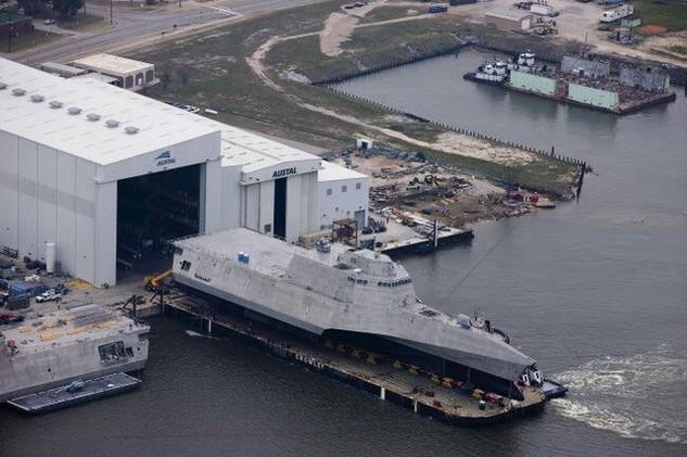 USS Gabrielle Giffords mới đây đã được bàn giao cho Hải quân Mỹ (Ảnh: wikimedia.org)