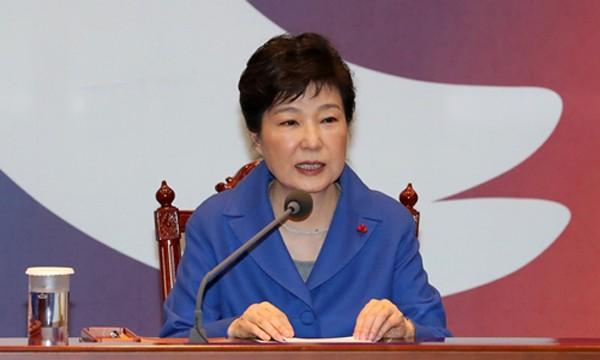Tổng thống Hàn Quốc Park Geun-hye. Ảnh:Reuters.