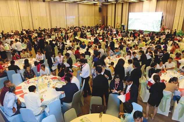 Rất đông khách hàng quan tâm đến Dự án Saigon Village khi dự án này được mở bán