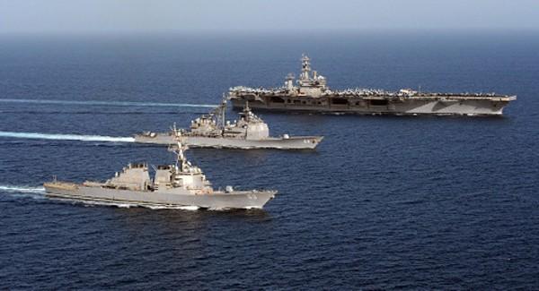 Biên đội tàu sân bay USS Dwight D. Eisenhower. Ảnh:Flickr.