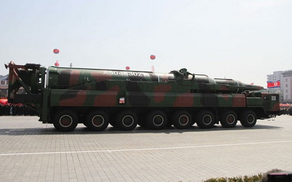 Dàn phóng tên lửa đạn đạo của Triều Tiên. Ảnh:ArmsControlWonk