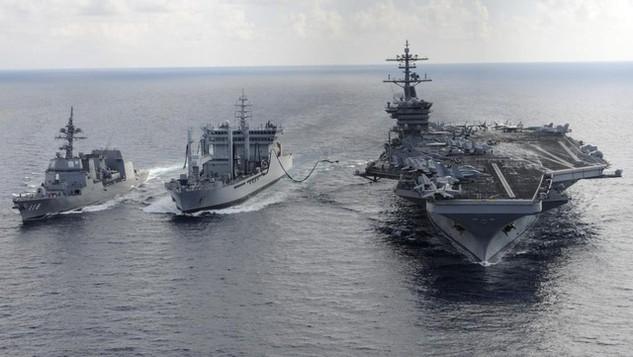 Nhóm tàu sân bay USS Theodore Roosevelt của Hải quân Mỹ (Ảnh minh họa: AFP)