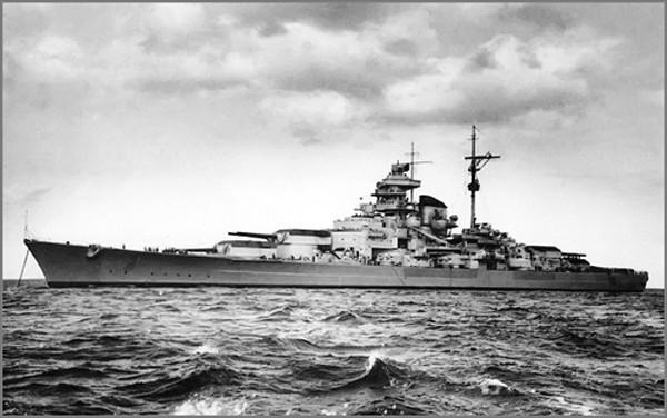 Thiết giáp hạm Tirpitz, một phần của Kế hoạch Z. Ảnh:Pinterest.
