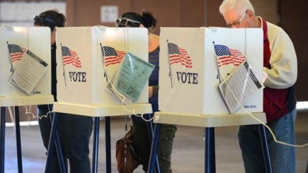 Bầu cử tổng thống ở Alhambra, bang California. Ảnh:AP
